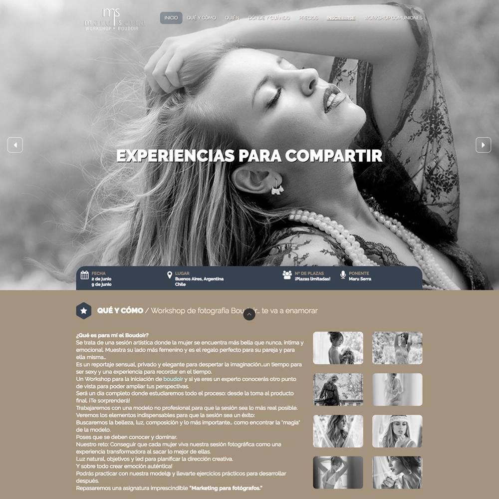 Página web para estudio fotográfico de valencia