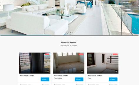 Página web para inmobiliarias Jurado en Córdoba