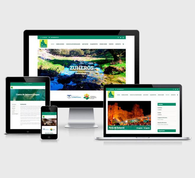 Diseño de página web de promocion turística