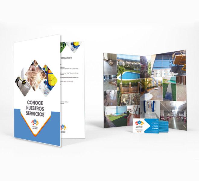 Diseño de subcarpetas y tarjetas corporativas click