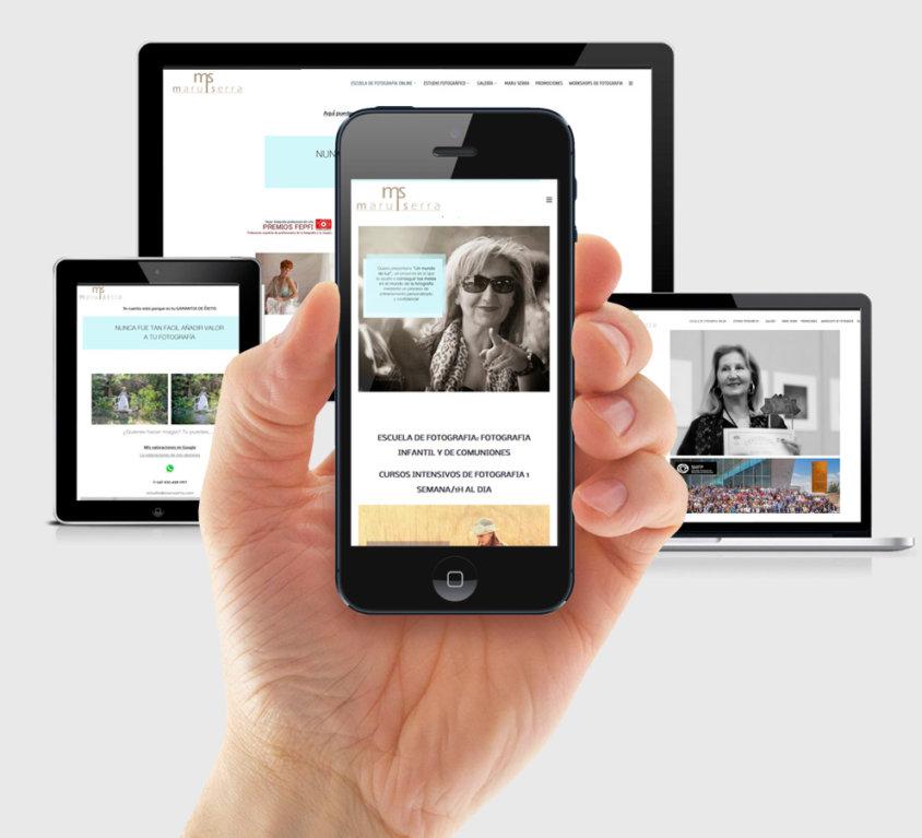 Diseño de página web para escuela de fotografía online