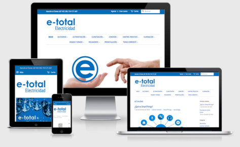 Diseño de tienda online e-totalelectricidad