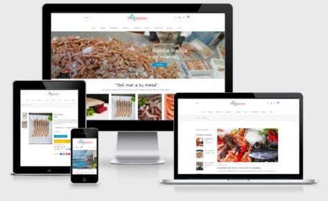 Diseño de tienda online Olémarisco